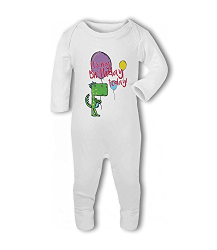 It's My Birthday Today! Dinosaur - Baby Romper Suit from Simply Wallart