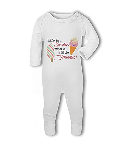 Life is Sweeter with a Little Sprinkles! - Baby Romper Suit - 12-18 Months from Simply Wallart