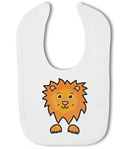 Lion Face - Baby Hook and Loop Bib from Simply Wallart