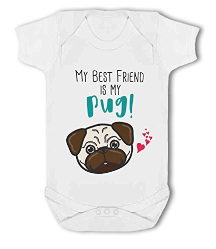 My Best Friend is My Pug! - Baby Vest from Simply Wallart