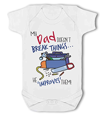 My Dad Doesn't Break Things. he 'Improves' Them! - Baby Vest from Simply Wallart