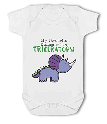 My Favourite Dinosaur is a Triceratops! - Baby Vest from Simply Wallart