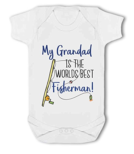 My Grandad is The Worlds Best Fisherman! - Baby Vest from Simply Wallart