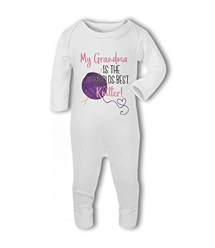 My Grandma is The Worlds Best Knitter! - Baby Romper Suit from Simply Wallart
