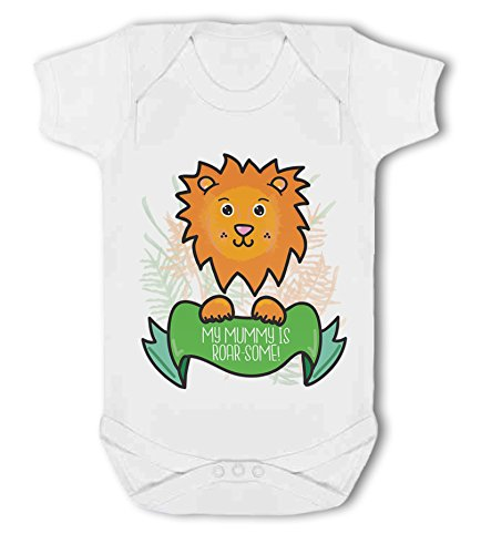 My Mummy is Roar-Some! (Lion) - Baby Vest from Simply Wallart