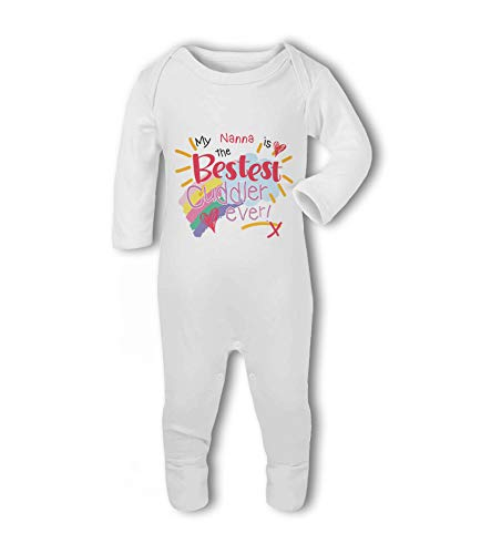 My Nanna is The Bestest Cuddler Ever!- Baby Romper Suit from Simply Wallart