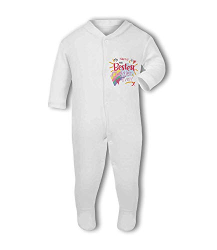 My Nanny is The Bestest Cuddler Ever! - Baby Grow Suit from Simply Wallart