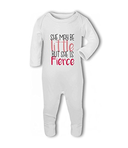 She May be Little but she is Fierce - Baby Romper Suit from Simply Wallart