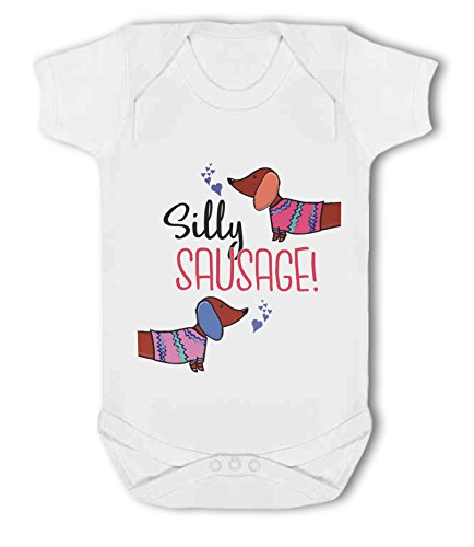 Silly Sausage! Dachshund - Baby Vest from Simply Wallart