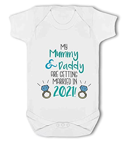 Simply Wallart My Mummy & Daddy are Getting Married in 2020! - Baby Vest from Simply Wallart