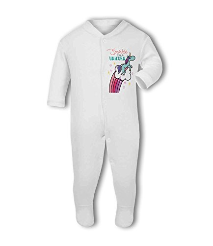Sparkle Like a Unicorn! - Baby Grow Suit from Simply Wallart