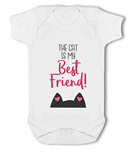 The Cat is My Best Friend! - Baby Vest from Simply Wallart