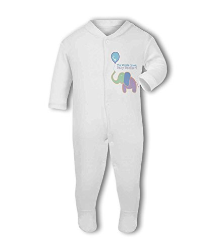 The Worlds Cutest Baby Brother! (Blue Elephant) - Baby Grow Suit from Simply Wallart