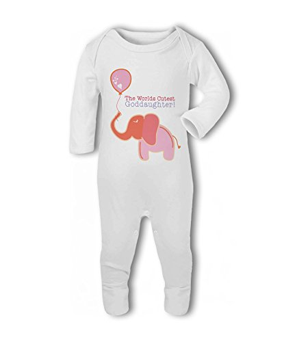The Worlds Cutest Goddaughter! (Elephant) - Baby Romper Suit from Simply Wallart