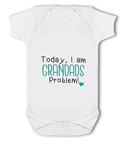 Today, I am Grandads Problem! Heart - Baby Vest from Simply Wallart