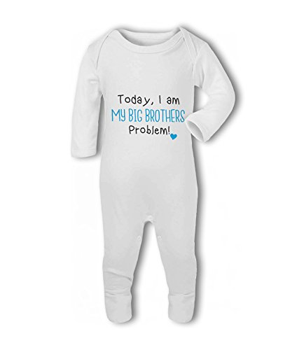 Today, I am My Big Brothers Problem! Heart - Baby Romper Suit from Simply Wallart