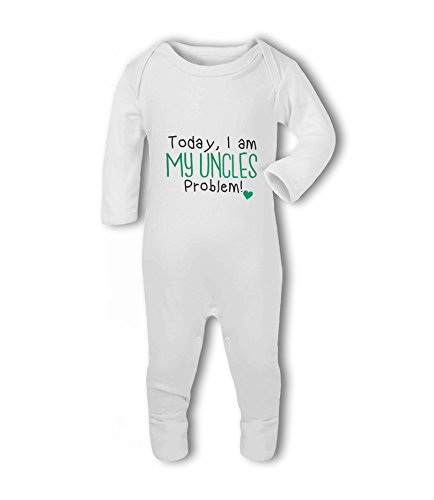 Today, I am My Uncles Problem! Heart - Baby Romper Suit from Simply Wallart