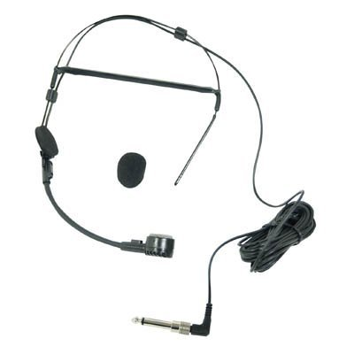 Dynamic Headset Microphone with Elastic Headband and 3.5m Lead from Electrovision