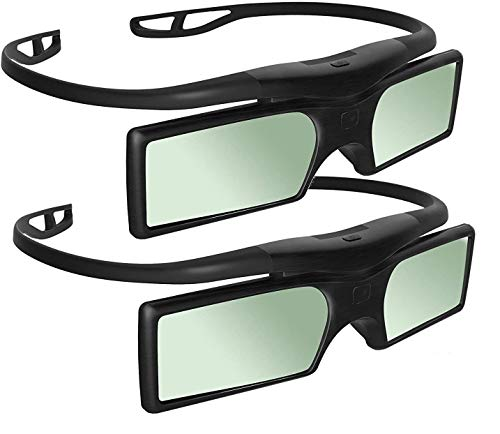 [Sintron] 2X Universal 3D RF Active Shutter Glasses Bluetooth for 2014 ~ 2018 Sony Samsung Panasonic 3D TV & Epson Projector , Compatible with TDG-BT500A TDG-BT400A (2 Pairs) , Black, 27g , item in UK from Sintron