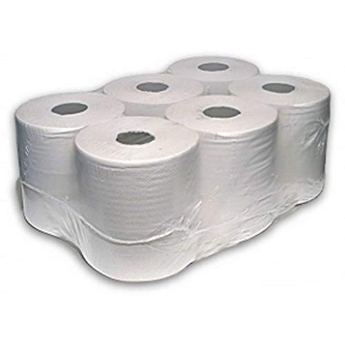 12 rolls x White Centrefeed Embossed 2ply Paper Towel from Sirius