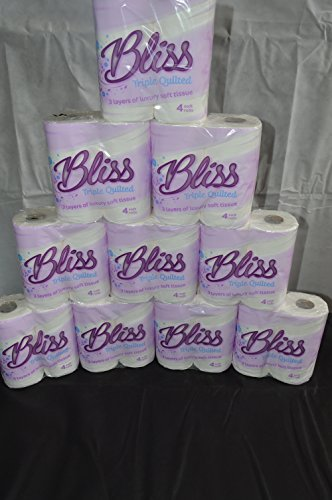 160 x Bliss Quilted Luxury 3ply toilet rolls paper tissue paper from Sirius