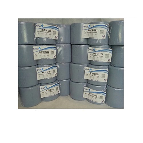 Blue Centre feed Embossed Rolls Wiper Paper Towel Centrefeeds 48 rolls(8 PACKS)x from Sirius