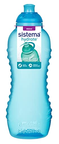 Sistema Twist 'n' Sip BPA Free Water Bottle, Assorted Colours, 460 ml from Sistema