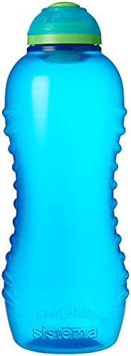 Sistema Twist 'n' Sip BPA Free Water Bottle, 460 ml - Blue from Sistema