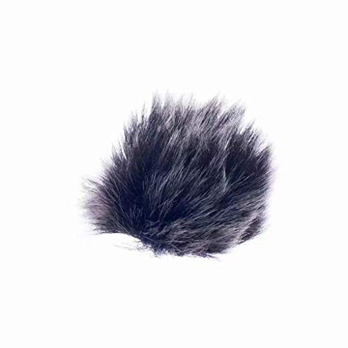 (1 pc) Gray Furry Microphone Windscreen for Lapel Lavalier Microphone from Sitrda