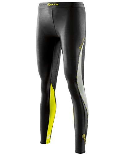 Skins Women's DNAmic Long Tights - Black/Limoncello, X-Small from Skins