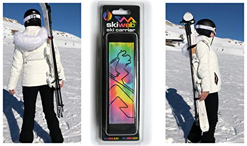 Skiweb Hands Free Ski & Pole Carrier - Multi Colour from Skiweb