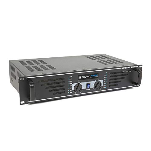 Skytec SKY-600B Black DJ Disco House Party Amp PA Power Amplifier 2x 300W from Skytec