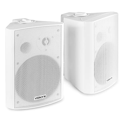 "White Wall Mount Speakers 6.5"" Restaurant Bar Background Music 120W from Skytec"