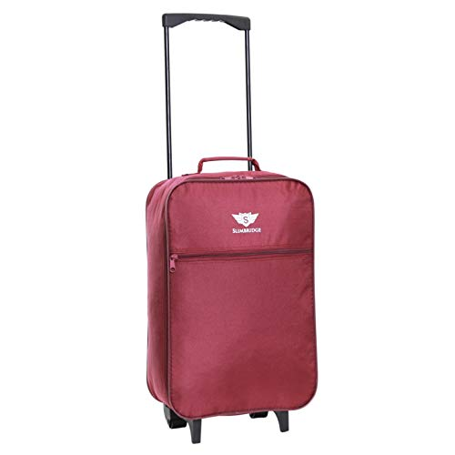 Slimbridge Barcelona Lightweight Carry On Suitcase Bag 55 cm 0.95 kg 27 litres 2 Wheels Plum from Slimbridge