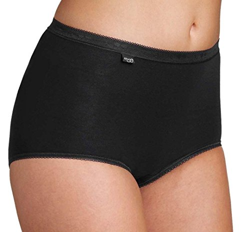 Sloggi Women's Maxi Brief High Rise Briefs ,Pack of 4, Black, 30 (Manufacturer Size: 58) from Sloggi
