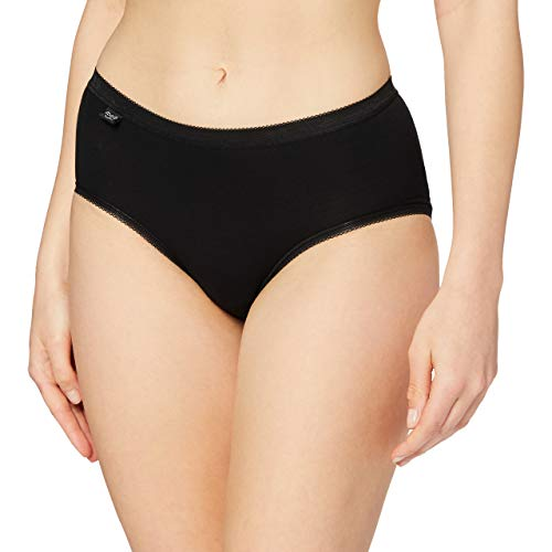 Sloggi Women's Basic Midi Brief, Black, Size 16 from Sloggi