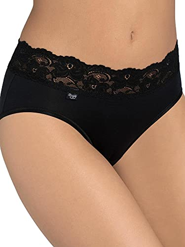 Sloggi Women's SLOGGI ROMANCE Midi Plain  Boxer Brief, Black, 16 (Manufacturer Size: 46) from Sloggi