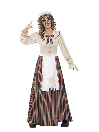 Smiffys Adult Women's Halloween Possessed Judy Costume, Dress, Hat and Latex Mask, Cirque Sinister, Halloween, Size: L, 45577 from Smiffys