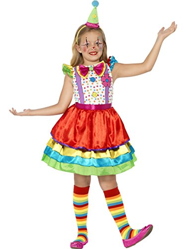 Smiffys Store, Deluxe Clown Girl Costume, with Dress & Hat, Large from Smiffys