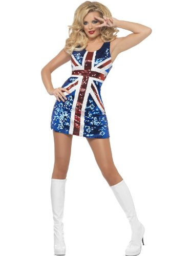 Smiffy's Fever All That Glitters Rule Britannia Costume (Large) - Women: 16-18 from Smiffys