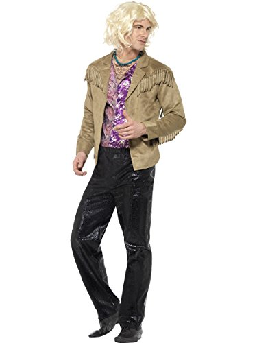 Smiffy's Men's Zoolander Hansel Costume with Trousers, Jacket with attached Mock Shirt & Necklace, Zoolander, Size: M, Colour: Multi, 20601 from Smiffy's