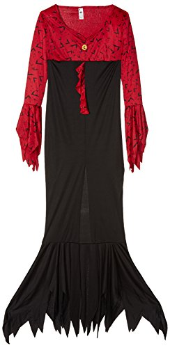 Smiffy's Women's Evil Queen Costume, Dress, Size: L, Color Red and Black, 23166 from Smiffy's