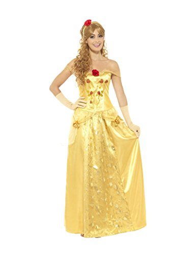 Smiffys Golden Princess Costume, M - UK size 12-14 from Smiffys