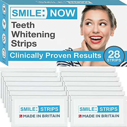 Teeth Whitening Strips - Zero Peroxide - Fluoride Free - Whiten Teeth - Enamel Safe! Promising Shades Whiter for That Whiter Smile You're After! from Smile:Now