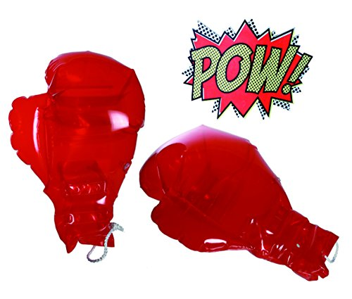 Boys Boy Child Children - Fun Novelty Accessory, Novelty Inflatable Blow Up Boxing Gloves - Popular Christmas Xmas Top Up, Stocking Filler Gift Games & Toys Age 5+ - One Pair Supplied from Smiley Face Gifts