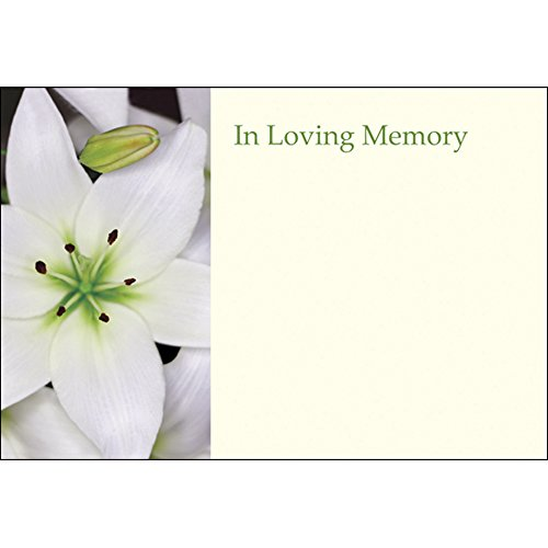 Funeral & in Loving Memory Floristry Message Cards Flowers and Floral Tributes (in Loving Memory White) from Smithers Oasis