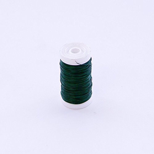 Green Florists Wire on a Reel 4 Different Size Gauges Available (30 Gauge (0.32mm)) from Smithers Oasis