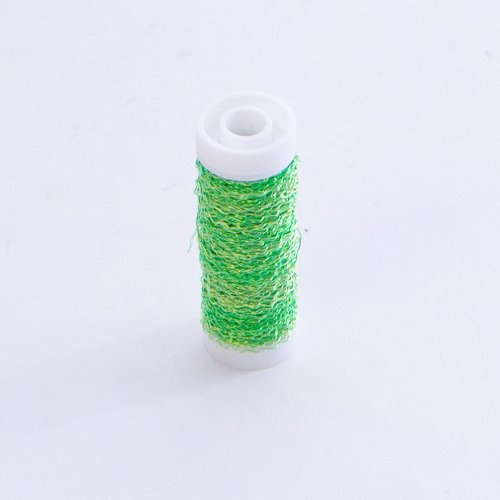 Bullion Wire Reel Crinkled Floristry Wire 30 Metre Roll Smithers Oasis (Lime Green) from Smithers Oasis
