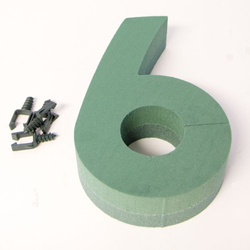 Oasis Floral Foam Numbers 0,1,2,3,4,5,6,7,8,9 Available (Number 6) from Smithers Oasis