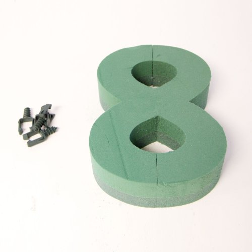 Oasis Floral Foam Numbers 0,1,2,3,4,5,6,7,8,9 Available (Number 8) from Smithers Oasis